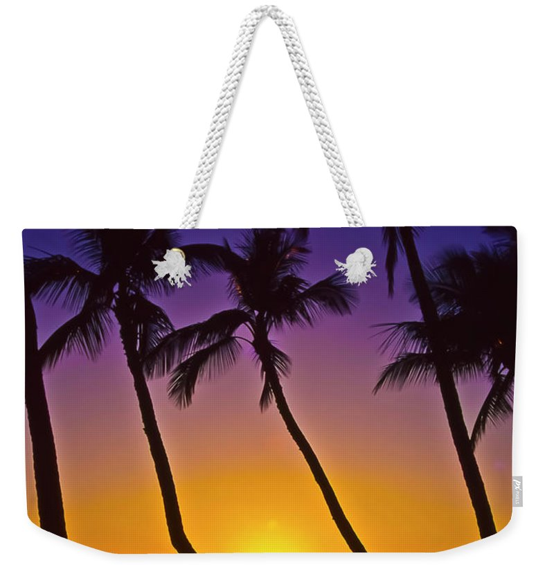 Sunset Weekender Tote Bag featuring the photograph Launiupoko Sunset by Jim Cazel