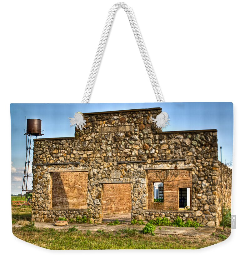 Laura Weekender Tote Bag featuring the photograph Laura Town Ghost Town In Arkansas by Douglas Barnett