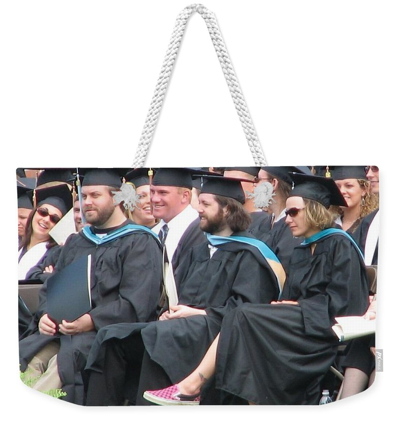 Graduation Weekender Tote Bag featuring the photograph Laura's Graduation by Kelly Mezzapelle