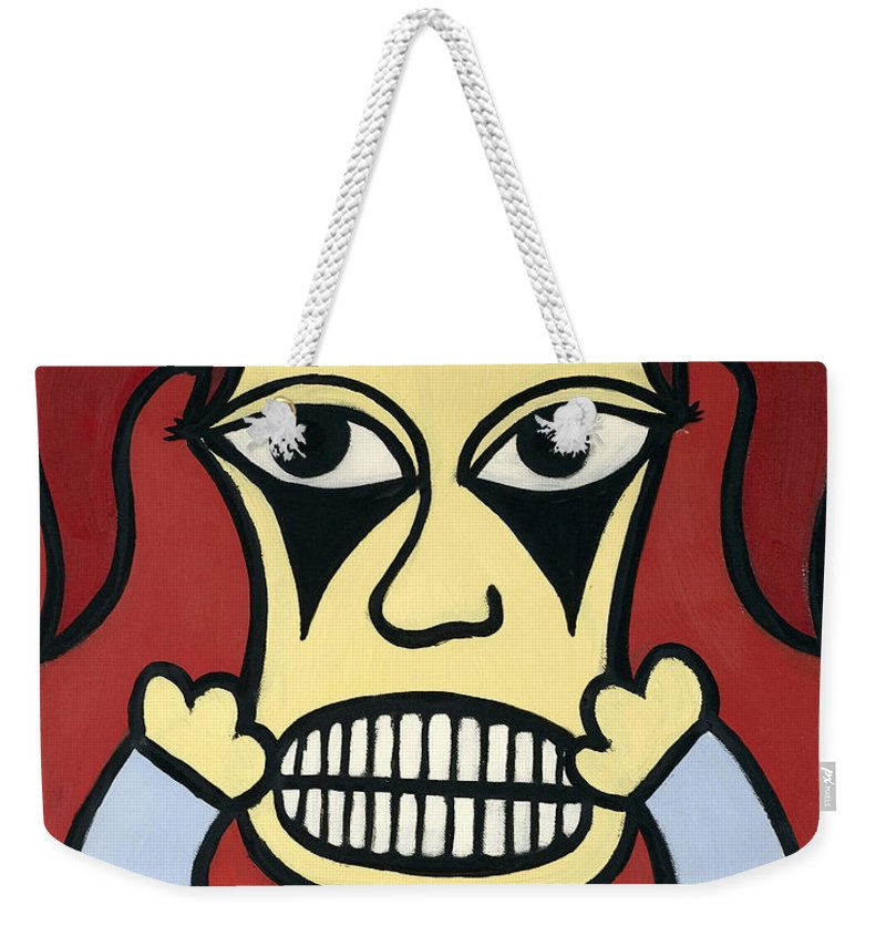 Girl Weekender Tote Bag featuring the painting Laurie by Thomas Valentine