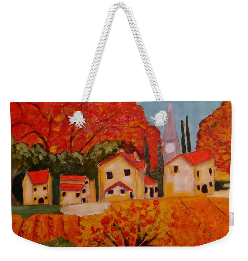 Provence Weekender Tote Bag featuring the painting L'Automne en Beaucaire Provence by Rusty Gladdish