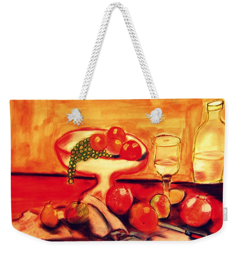 Provence Weekender Tote Bag featuring the painting Automne by Rusty Gladdish