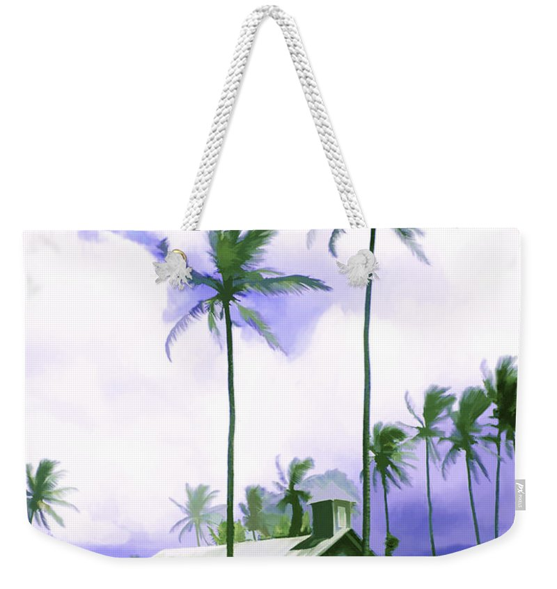 Hawaii Weekender Tote Bag featuring the photograph Lava Rock Church by Kurt Van Wagner
