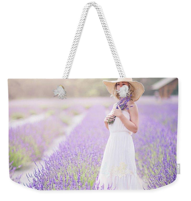 Kremsdorf Weekender Tote Bag featuring the photograph Lavender Dreams by Evelina Kremsdorf