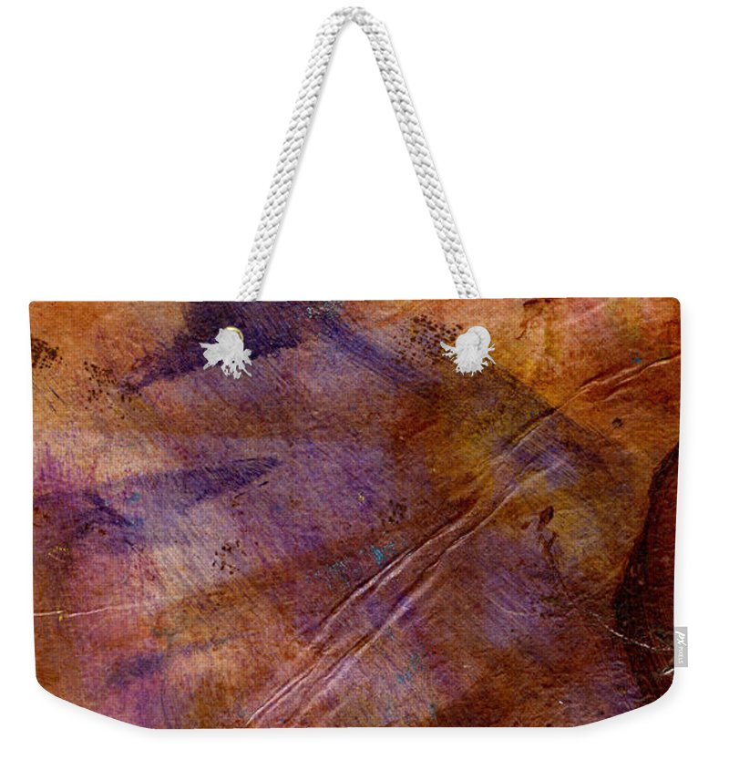 Woman Weekender Tote Bag featuring the mixed media Lavender Floating Away by Angela L Walker