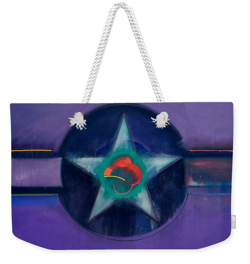 Usaaf Weekender Tote Bag featuring the painting Lavender Mist by Charles Stuart