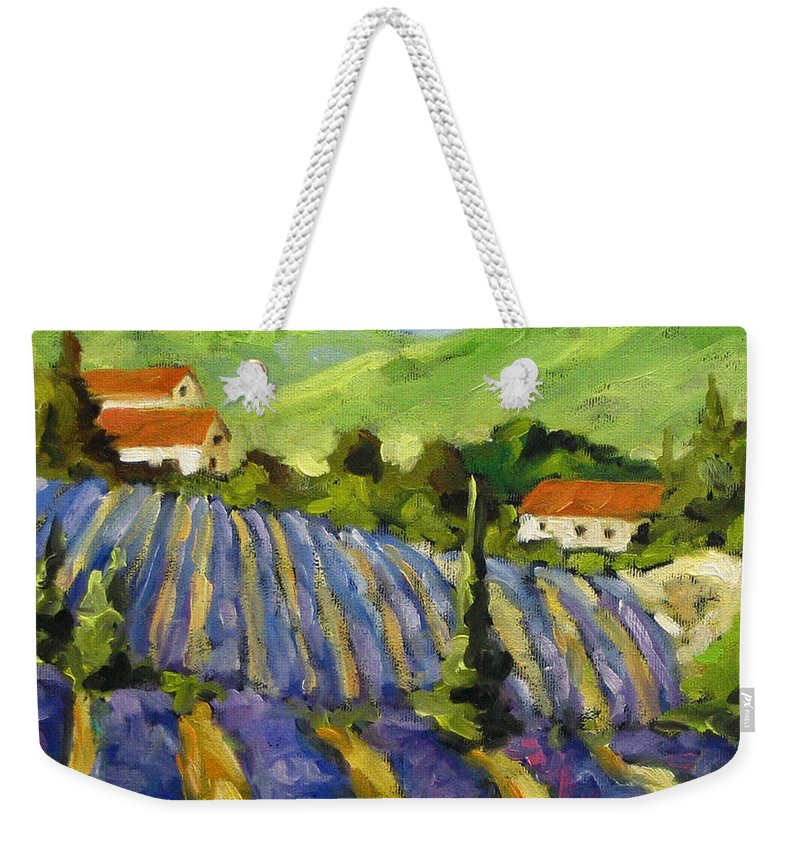 Art Weekender Tote Bag featuring the painting Lavender Scene by Richard T Pranke