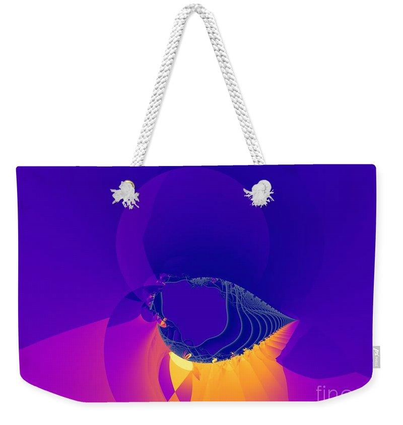 Fractal Art Weekender Tote Bag featuring the digital art Lavender Sky by Ron Bissett