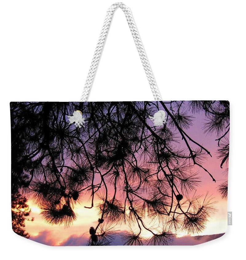 Sunset Weekender Tote Bag featuring the photograph Lavender Sunset by Will Borden