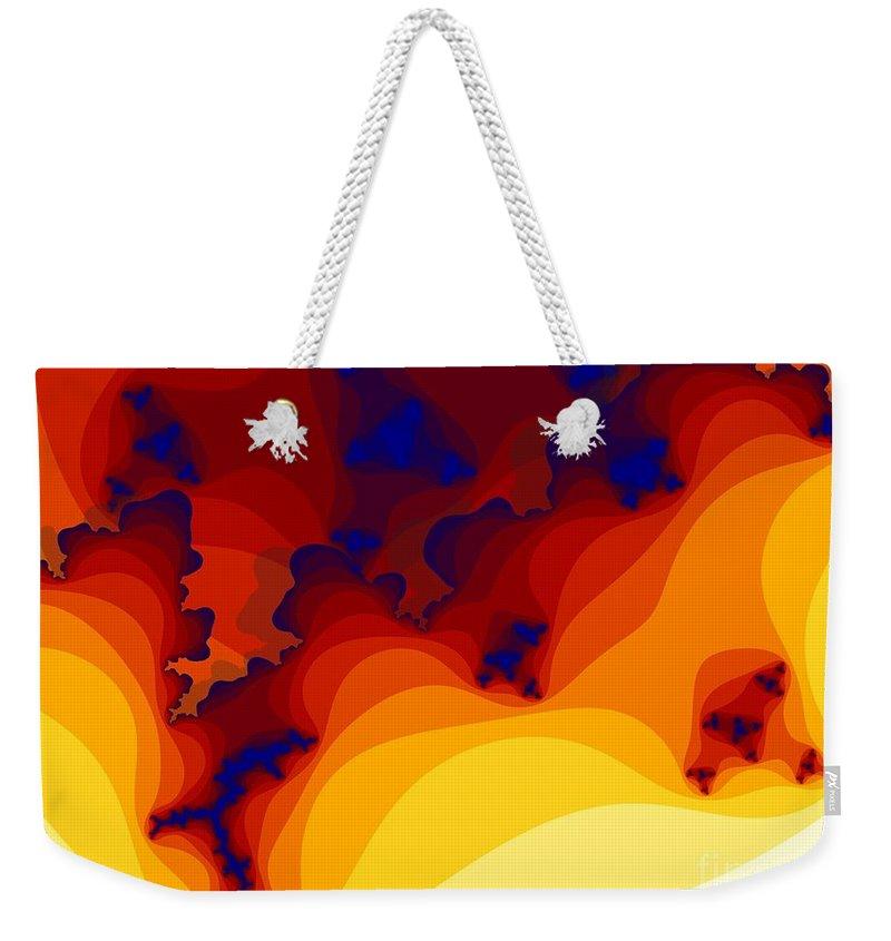 Fractal Art Weekender Tote Bag featuring the digital art Layered Gells by Ron Bissett