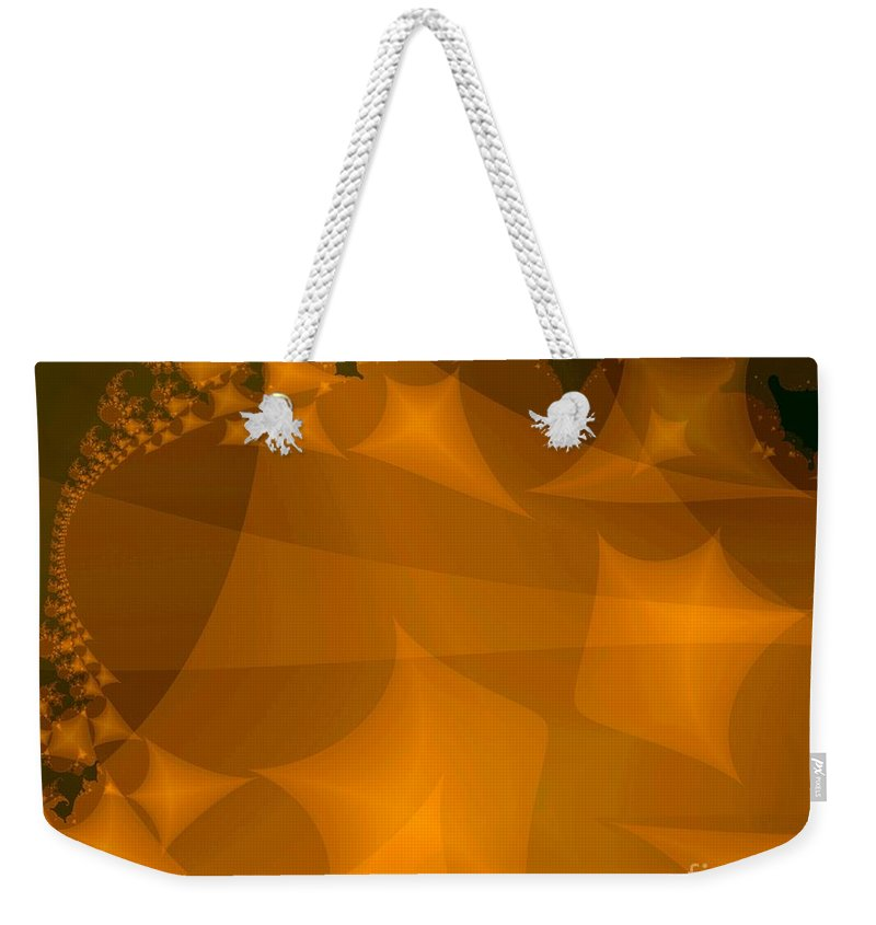 Kites Weekender Tote Bag featuring the digital art Layered Kite Formations by Ron Bissett
