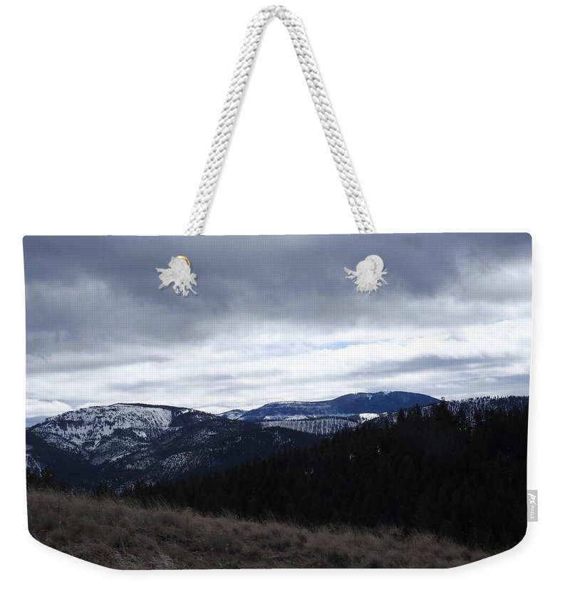 Weekender Tote Bag featuring the photograph Layered Serenity by Dan Hassett