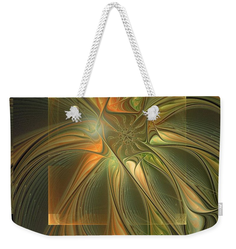 Digital Art Weekender Tote Bag featuring the digital art Layers by Amanda Moore