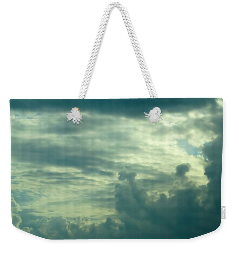 Layers Of Clouds Weekender Tote Bag featuring the photograph Layers Of Clouds by Cynthia Woods
