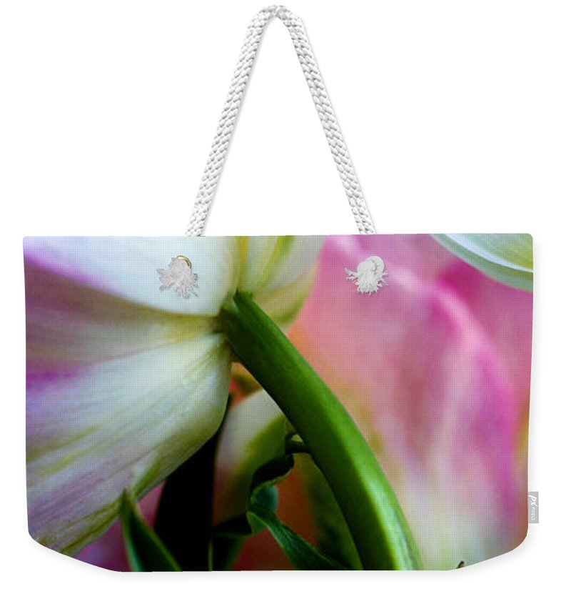 Flower Weekender Tote Bag featuring the photograph Layers Of Tulips by Marilyn Hunt