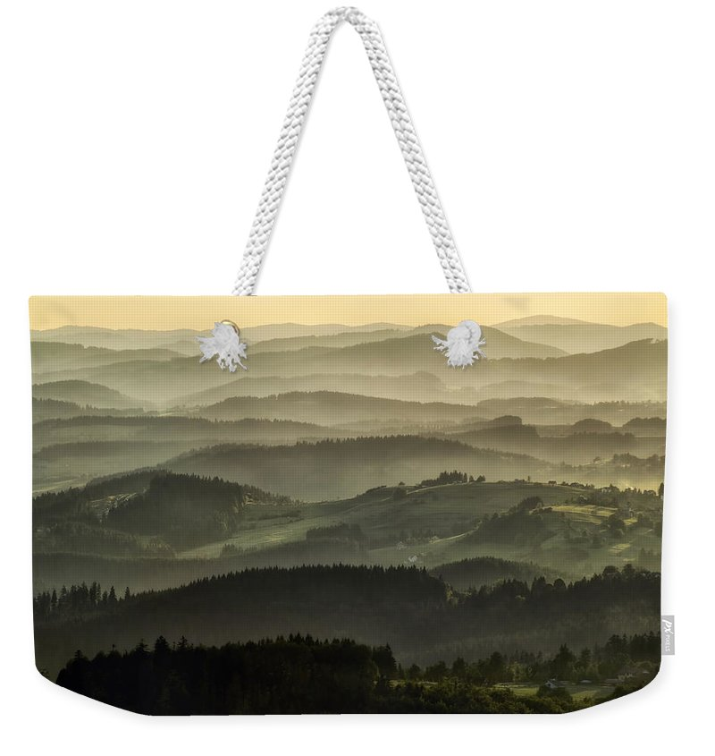 Poland Weekender Tote Bag featuring the photograph Lazy Afternoon In Beskid by Jaroslaw Blaminsky