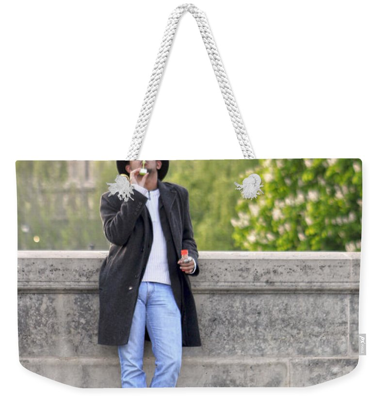 Bubbles Weekender Tote Bag featuring the photograph Lazy Day In Paris by Mauverneen Blevins