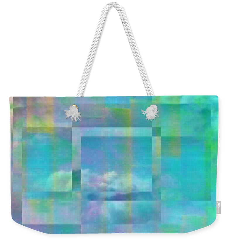 Pastel Weekender Tote Bag featuring the digital art Lazy Days Pastel Squared by Tim Allen