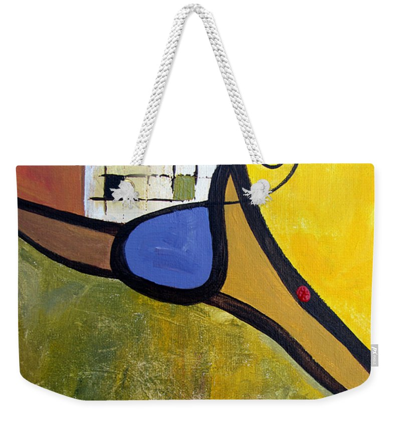 Abstract Weekender Tote Bag featuring the painting Lazy Days by Ruth Palmer