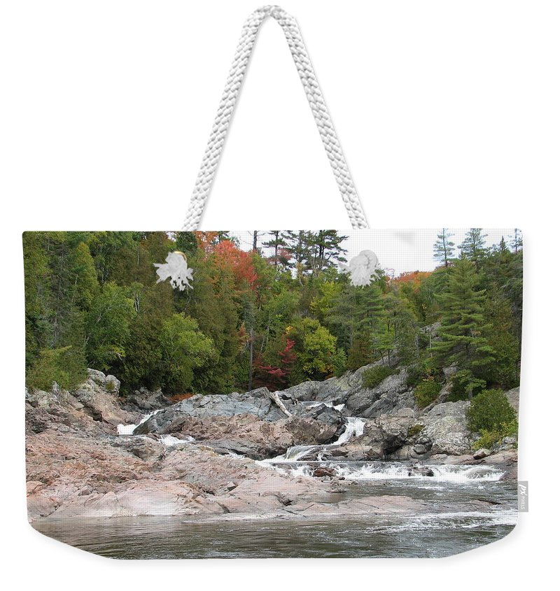 River Weekender Tote Bag featuring the photograph Lazy River by Kelly Mezzapelle