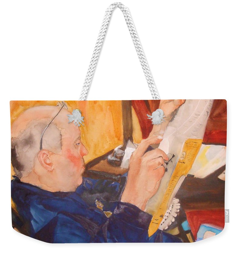 Portrait Weekender Tote Bag featuring the painting Lazy Sunday Morning by Jean Blackmer