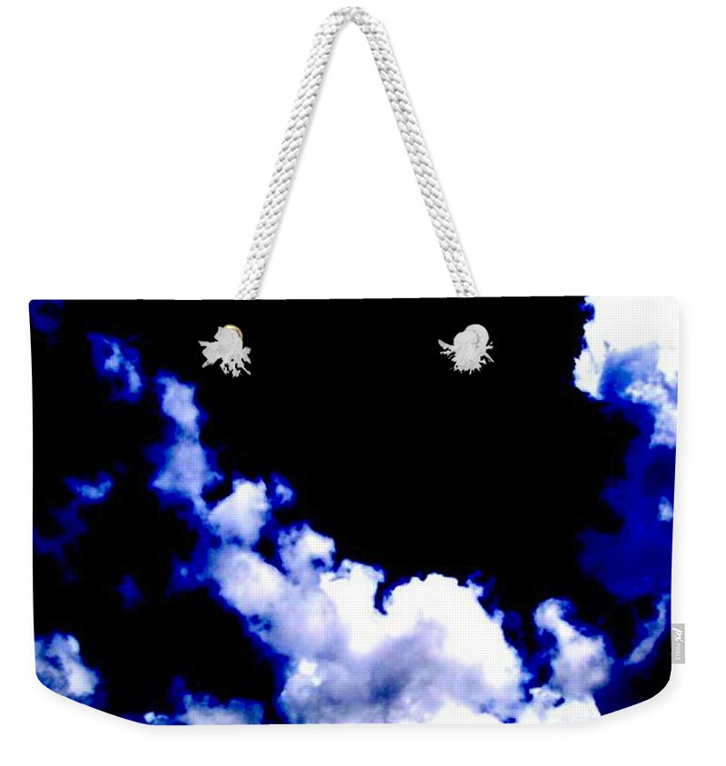 Blue Weekender Tote Bag featuring the photograph Le Beau Ciel by Vicki Lynn Sodora