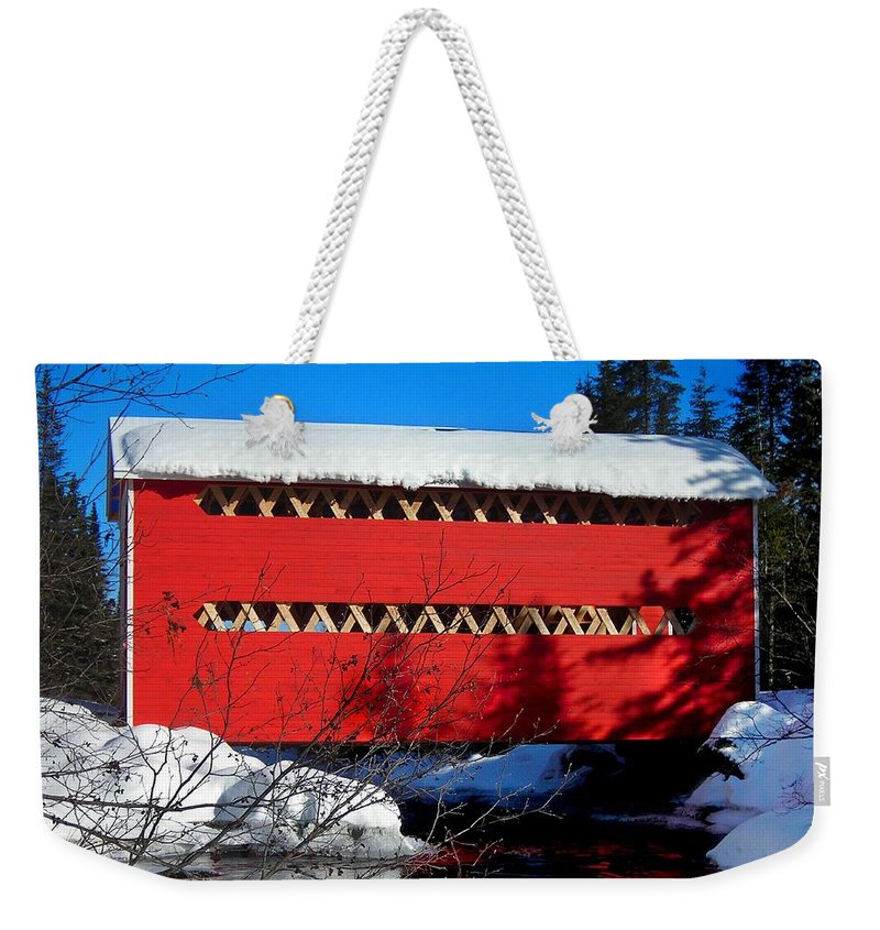 North America Weekender Tote Bag featuring the photograph Le Boise Du Pont-rouge ... by Juergen Weiss