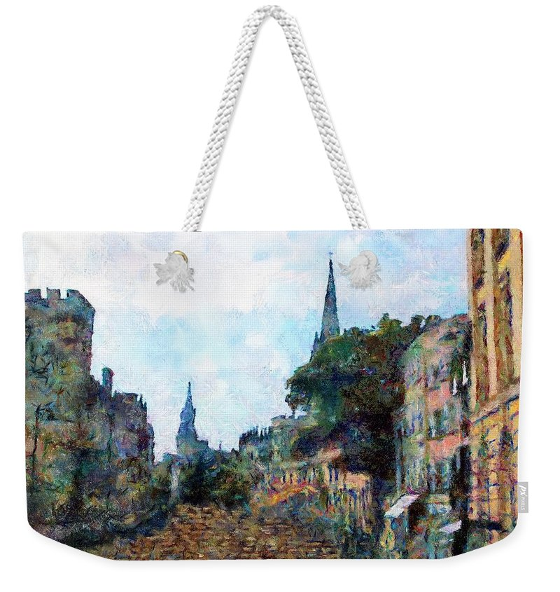 19th Century Weekender Tote Bag featuring the painting Le Boulevard Vide by RC DeWinter