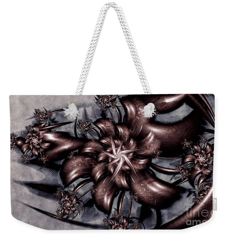 Le Chemin Weekender Tote Bag featuring the digital art Le Chemin by Kimberly Hansen