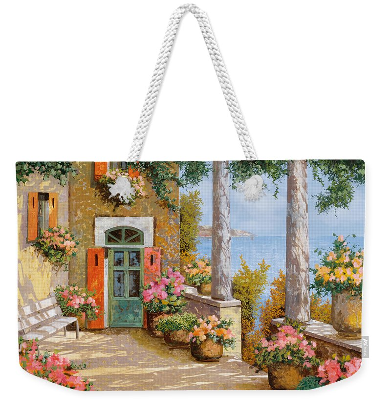 Terrace Weekender Tote Bag featuring the painting Le Colonne Sulla Terrazza by Guido Borelli