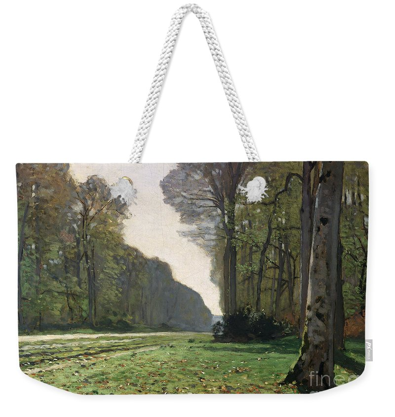 The Weekender Tote Bag featuring the painting Le Pave de Chailly by Claude Monet