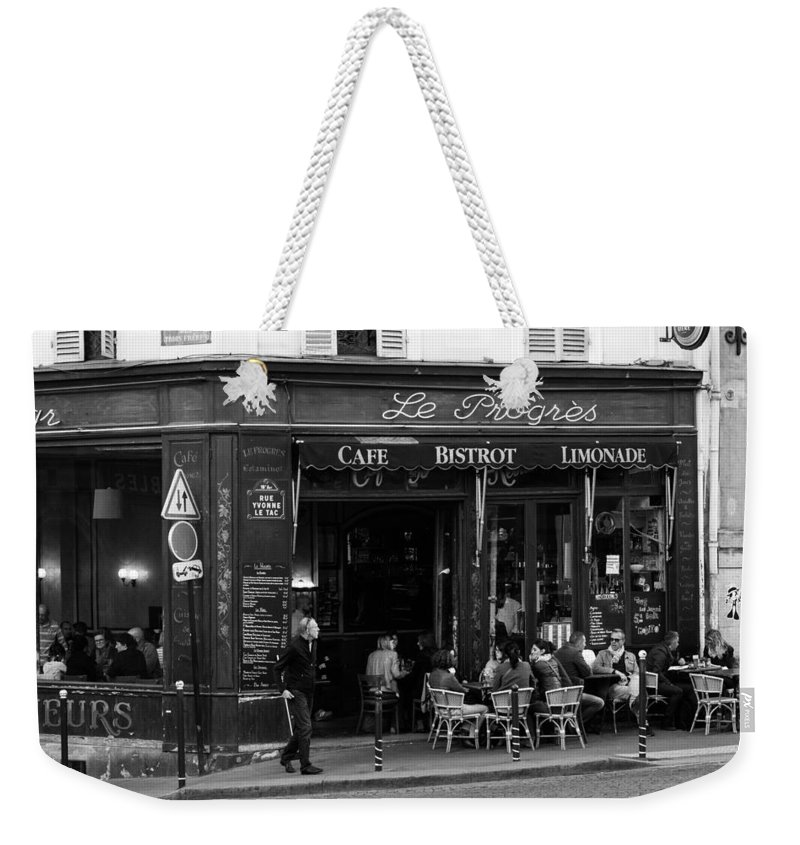 Le Progres Weekender Tote Bag featuring the photograph Le Progres by Pati Photography