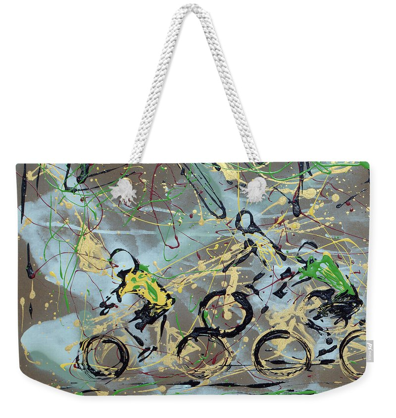 Abstract Weekender Tote Bag featuring the photograph Le Tour A by J R Seymour