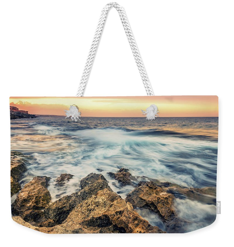 Sunset Weekender Tote Bag featuring the photograph Leading Lines by Ahmed Shanab