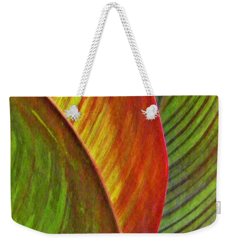 Leaf Weekender Tote Bag featuring the photograph Leaf Abstract 3 by Sarah Loft