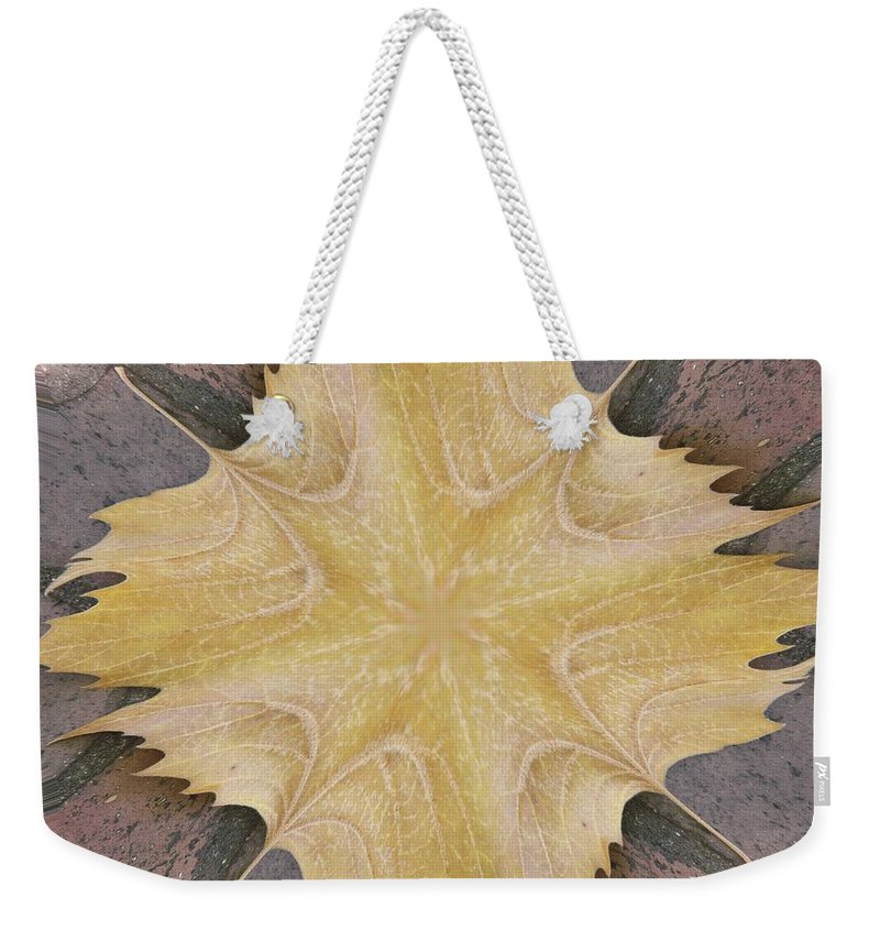 Leaf Weekender Tote Bag featuring the photograph Leaf On Bricks 6 by Tim Allen