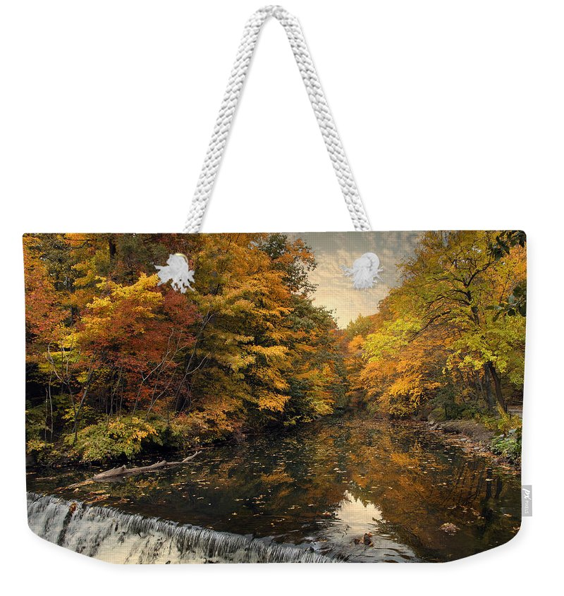 Nature Weekender Tote Bag featuring the photograph Leaf Peeping by Jessica Jenney