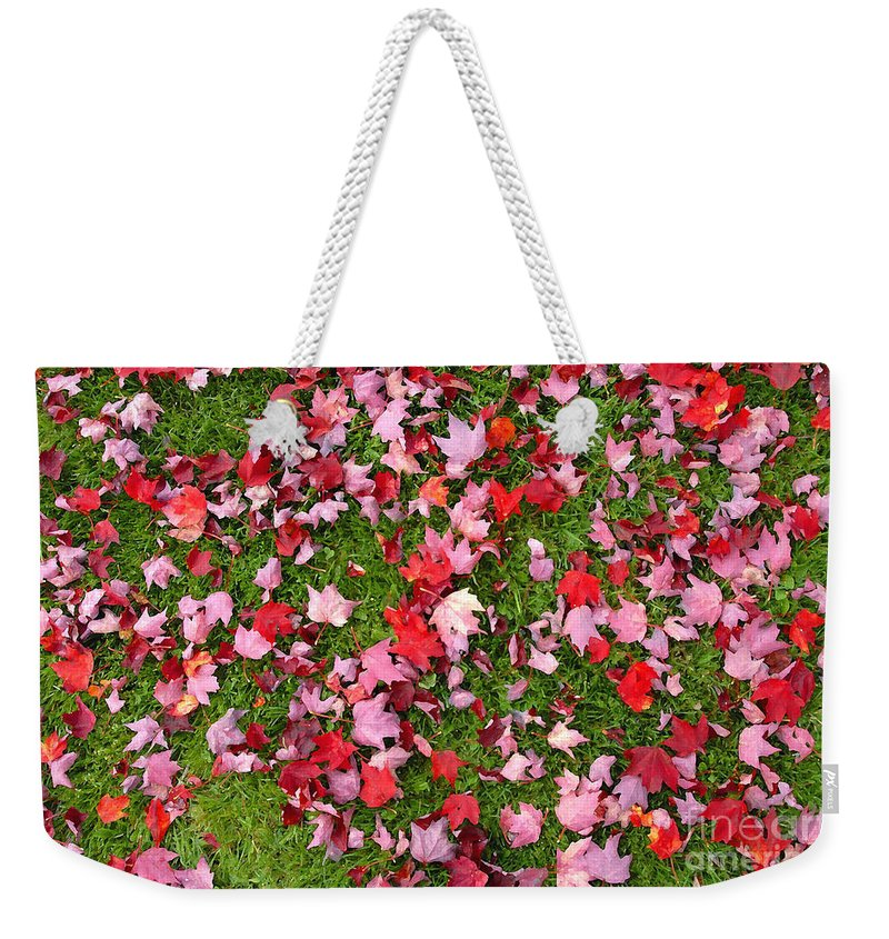 Leafs Weekender Tote Bag featuring the photograph Leafs On Grass by David Lee Thompson
