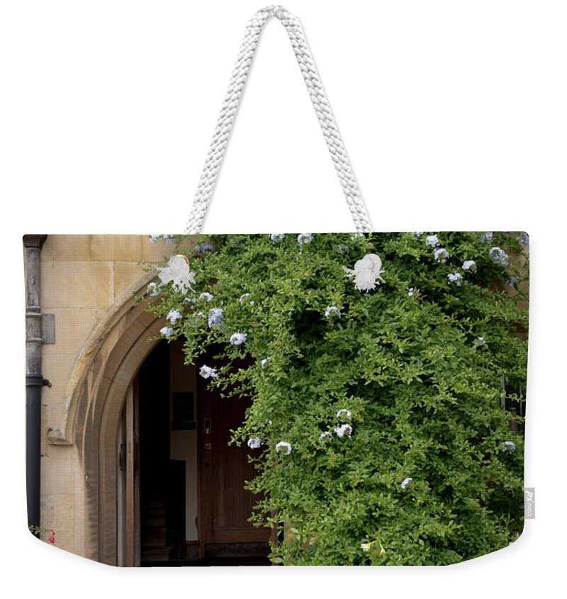 Cambridge Weekender Tote Bag featuring the photograph Leafy Archway by Monika Tymanowska