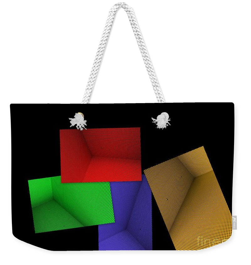 Abstract Art Weekender Tote Bag featuring the photograph Lean On Me by Carol Groenen