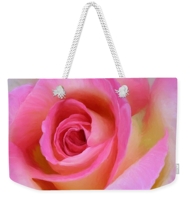 Rose Weekender Tote Bag featuring the photograph Leann Rimes by Sherrie Triest
