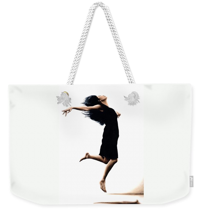 Ballet Weekender Tote Bag featuring the painting Leap into the Unknown by Richard Young