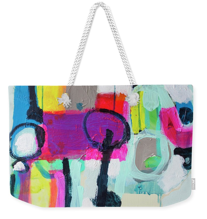 Abstract Weekender Tote Bag featuring the painting Learner's Permit by Claire Desjardins
