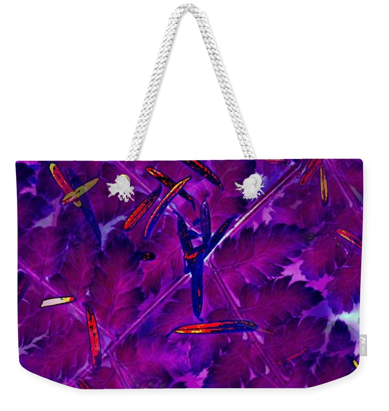 Leaves Weekender Tote Bag featuring the photograph Leaves And Needles by Tim Allen