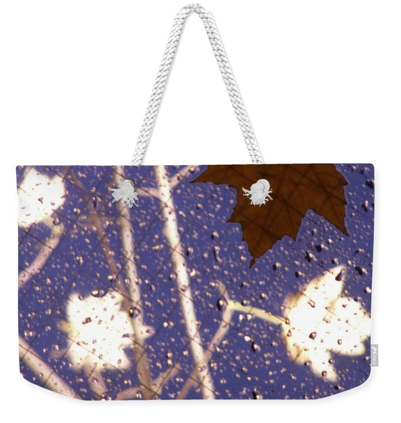 Leaves Weekender Tote Bag featuring the photograph Leaves And Rain 2 by Tim Allen
