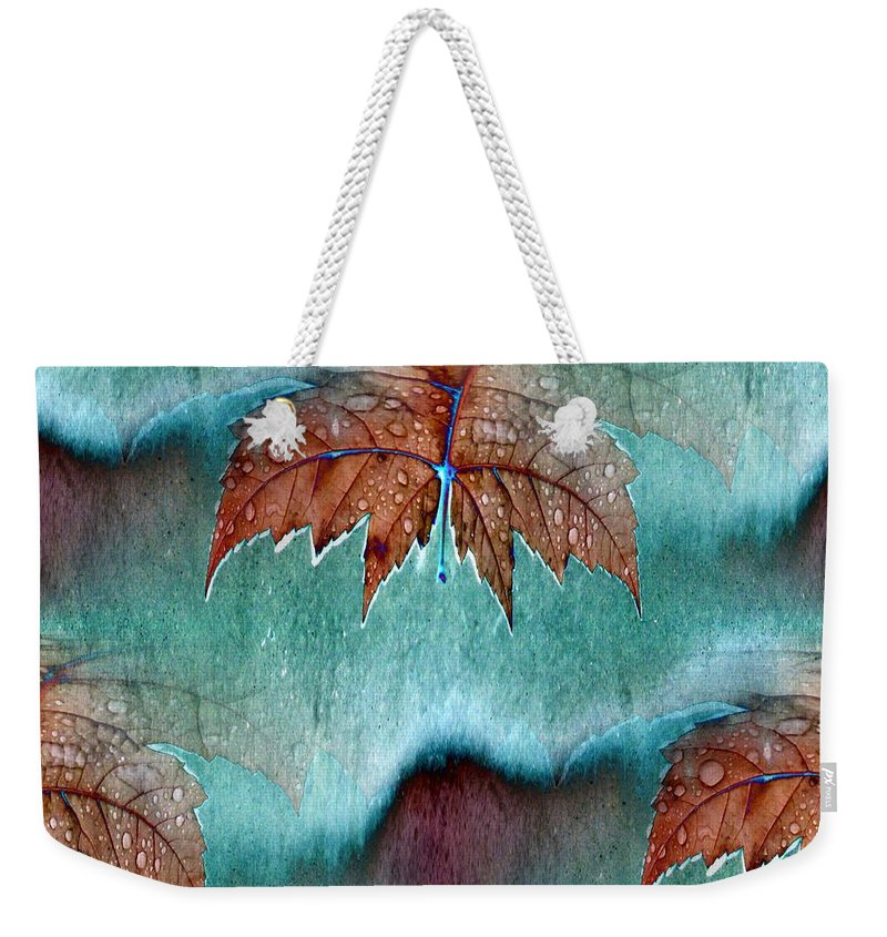 Leaves Weekender Tote Bag featuring the photograph Leaves And Rain 6 by Tim Allen