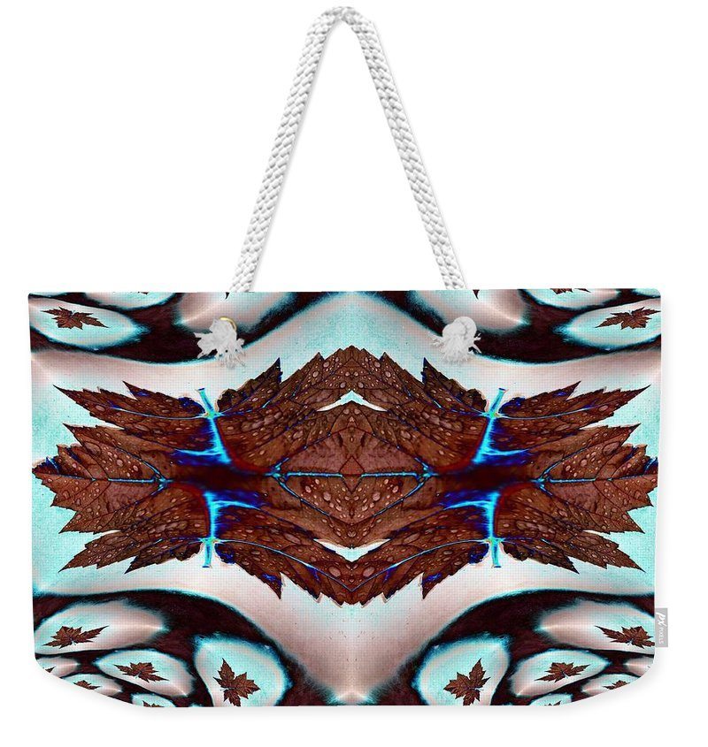 Leaf Weekender Tote Bag featuring the photograph Leaves And Rain by Tim Allen