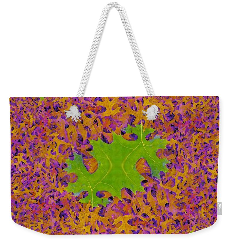 Leaves Weekender Tote Bag featuring the photograph Leaves In Fractal 2 by Tim Allen