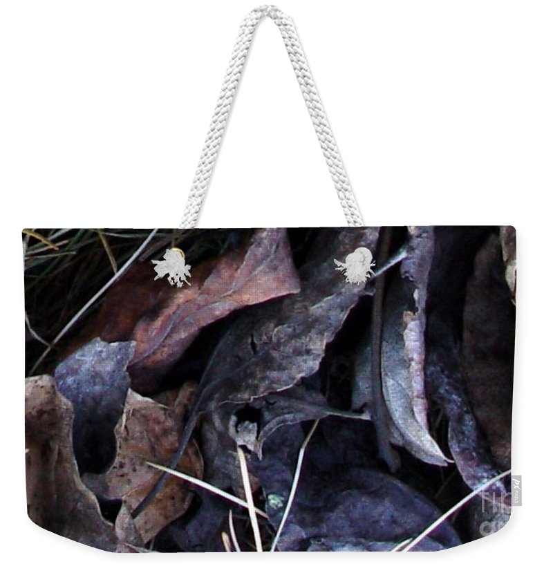 Leaves Weekender Tote Bag featuring the photograph Leavings by Ron Bissett