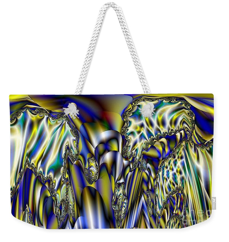 Led Weekender Tote Bag featuring the digital art Led Light Tubes by Ron Bissett
